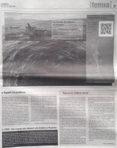 La Depeche 31-07-13 Orques à Tahiti BD