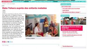 Les Nouvelles Intervention à l'hopital le 13fev 2014