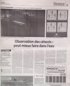 article La depeche du 17-11-14