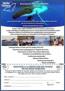 bulletin d'adhésion 2015 Mata Tohora