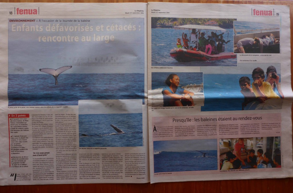 La Depeche Tahiti double page