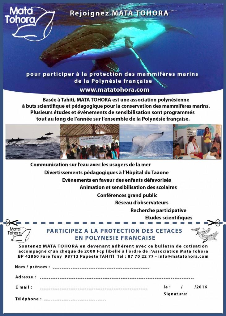bulletin d'adhésion Mata Tohora
